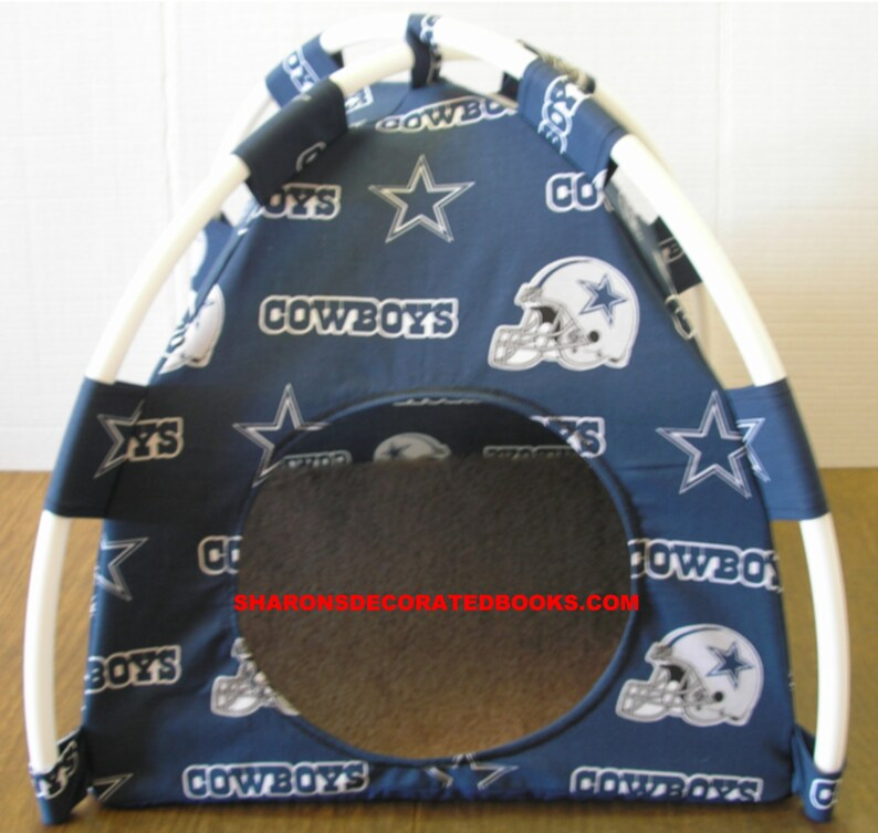 image 0 & Small or Large Handmade Dallas Cowboys Pup Tent Pet Bed for | Etsy