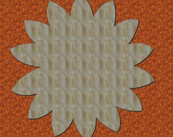 Unfinished Wood Sunflower Flower solid 17.5 tall Door Hanger