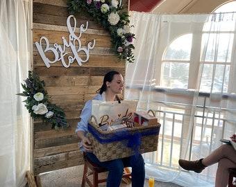 Bride to be wood sign, Bridal shower backdrop, Bridal Shower, bride to be backdrop, wedding decor, bridal shower decor, wood sign, backdrop
