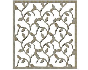 Unfinished Wood Flowers Lattice Work 17.5 x 16 inch Door Hanger, Wall Decor
