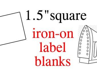 56 Iron-On Blank Clothing Labels 1x2 write on | Etsy