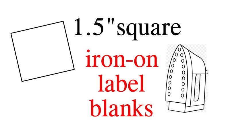 60 Iron-On Blank Clothing Labels - 1 5