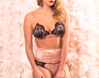 Ships in 1 business day! Matilda Silk and French Lace Lingerie Set