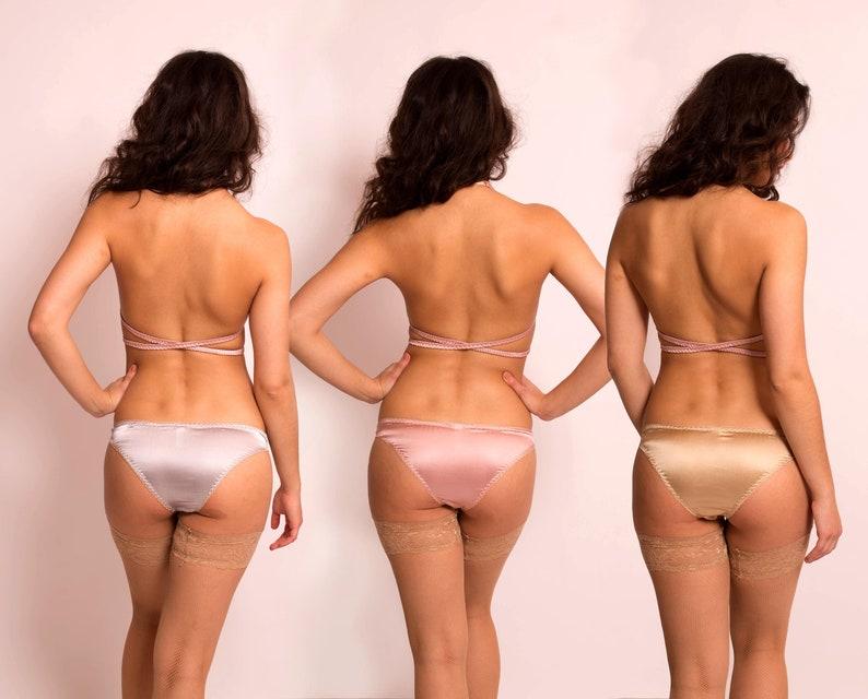 c24c8214d65 Aphrodite  3 Pairs of Silk Satin Panties. Choose from 22