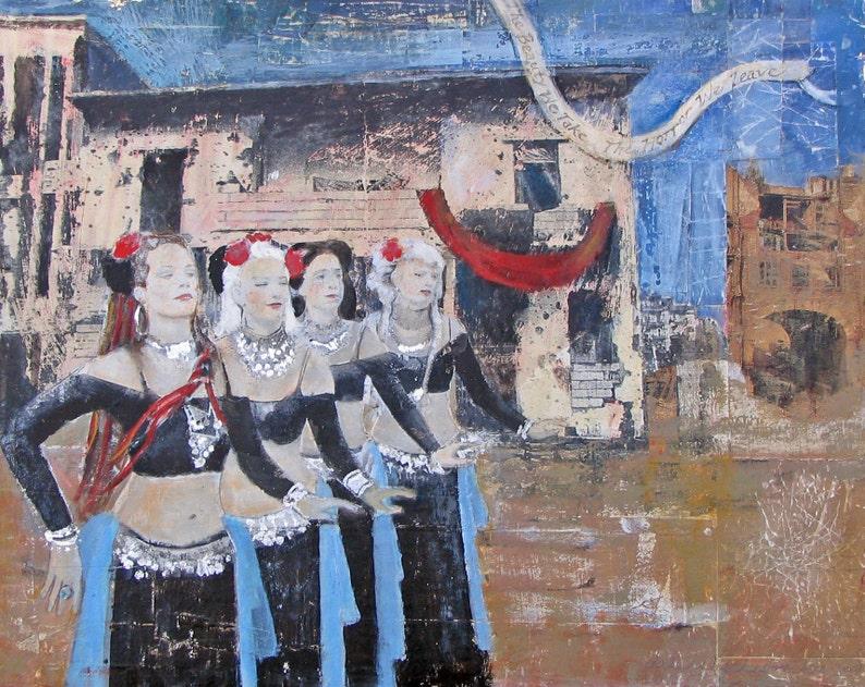 8 x 10 Belly Dancers Tribal Fusion Unique Fine Art Bombed image 0