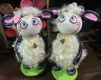 Made to order Spooky Hollow  Grimmy Easter sheep doll