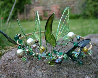 Absinthe Fairy Wing Tiara