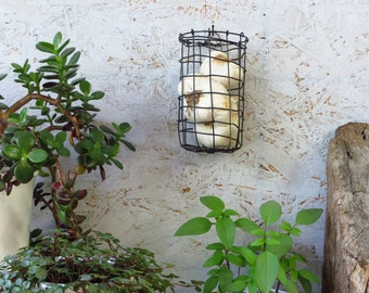 Handwoven, Wall Hanging, Wire Basket