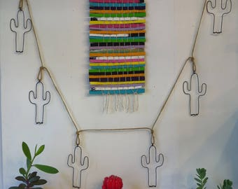 Wire, Cactus, Wall Garland, Wall Hanging, South West Decor, Folk Art