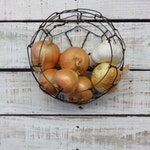 Wire Basket, Wall Hanging Basket, Farmhouse Style, Vintage Style Round, Kitchen