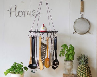 Hanging Utensil Holder, Organizer, Rack, Herb Dryer