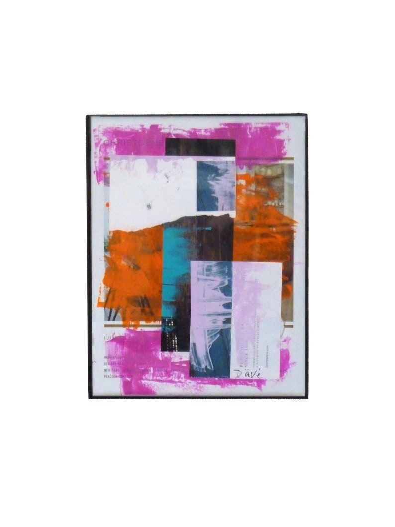 Abstract Mixed Media Collage Original Art image 0