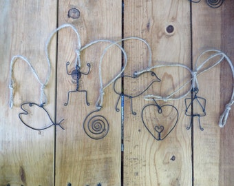 Wire Ornament, Garland, Wall Hanging