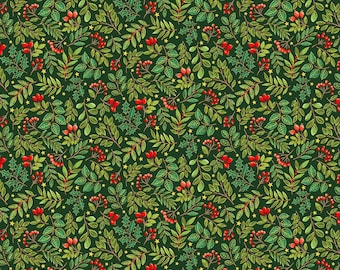 Classic Foliage - Green by Makower UK- Cotton Fabric, sold by the 1/2 yard, Pattern TP-2243-G