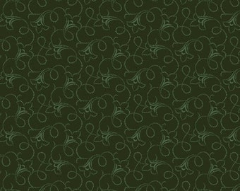 Forest Green Trumpet Vine for Andover Fabrics - A-9731-G - sold by the half yard