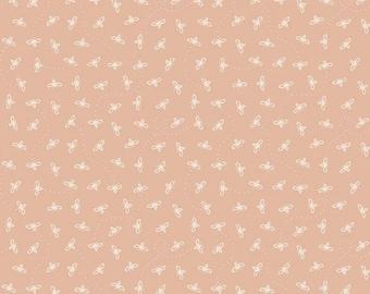 Harmony Bees Apricot - Riley Blake Designs - Honeybees Bee 1/2 Yd cuts, 100% cotton, C11096
