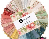 The Seamstress by Edyta Sitar for Laundry Basket, 42 piece 5 quot Charm Pack - Andover Fabrics. 100 Cotton SKU 1S-SEAMSTRESS-X