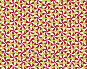 Peppermint Swirls Green from Very Merry by Kim Schaefer - for Andover Fabrics - 100% Cotton Quilting Fabric, sold by the 1/2 yard, TP-9400-G