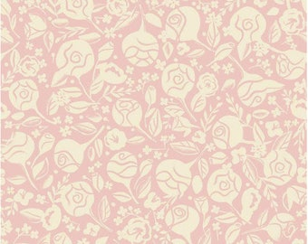 Beauty & the Beast Floral Pink by Jill Howarth for Riley Blake Fabrics - 100% Cotton Quilting Fabric, sold by 1/2 yard, C9532-PINK