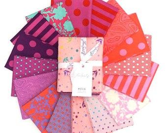 Tula Pink Flamingo FAT QUARTER Bundle- True Colors Flamingo By Free Spirit Fabrics - 16 Fabrics Total