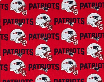 NFL New England Patriots 100% Cotton Fabric in 1/2 yards, sports fan, decorative, gift, man cave, mask fabric, licensed