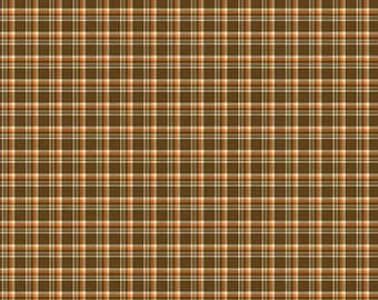Give Thanks Plaid Brown Quilting Cotton Fabric - by Sandy Gervais for Riley Blake Fabrics quilters cotton by the half yard C9525-Brown