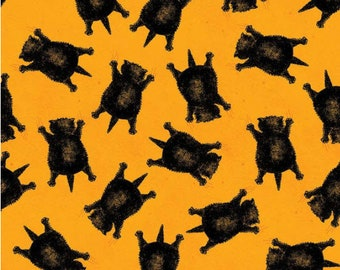 Goose Tales Scaredy Cats Toss Orange by J. Wecker Frisch for Riley Blake Fabrics - 100% Cotton Quilting Fabric, sold by 1/2 yd, C9398-ORANGE