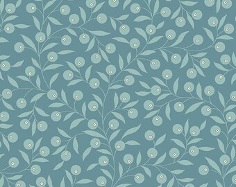 Bluebird by Edyta Sitar for Laundry Basket, Color - Expedition Blue, Pattern - Thimble, 1/2 yd, 100% Cotton by Andover Fabrics, A-9771-B1