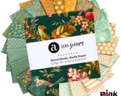 Secret Stash Earth Tones by Edyta Sitar for Laundry Basket, 42 piece 5 quot Charm Pack - Andover Fabrics. 100 Cotton 1S-EARTHSTASH-X