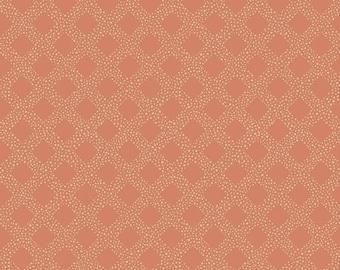 Harmony Lattice Salmon - Riley Blake Designs - Geometric Diagonal On Point Orange - 1/2 Yd cuts, 100% cotton, C11095