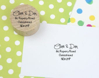 Return Address Stamp - Small Round - custom address rubber stamp - personalized - housewarming - address stamp