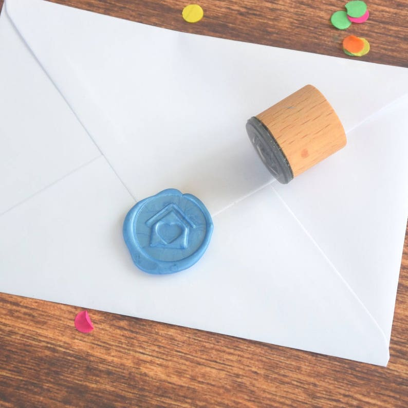 wax seal House and Heart Wax Seal Stamp Wax seal stamp home Wedding Seal Envelope Seal love