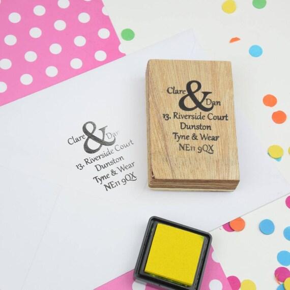 Ampersand Address Stamp Favor Custom Rubber