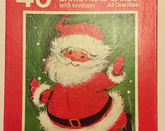 Vintage christmas cards etsy vintage 1970s christmas cards 40 assorted designs with envelopes in original box m4hsunfo