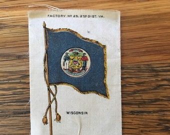 32e4a1f2632 Wisconsin State Flag on Old Mill Cigarette Silk
