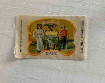 Display your travels! Printed Patch Jacket Bag IDAHO STATE SEAL Sew On