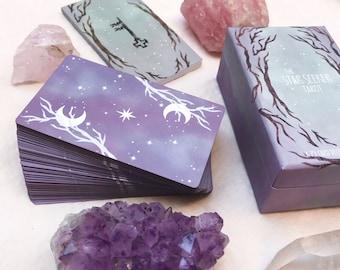 The Star Seeker Tarot Deck | Guidebook included | indie tarot cards, oracle, starseeker, beginner, spiritual, divination