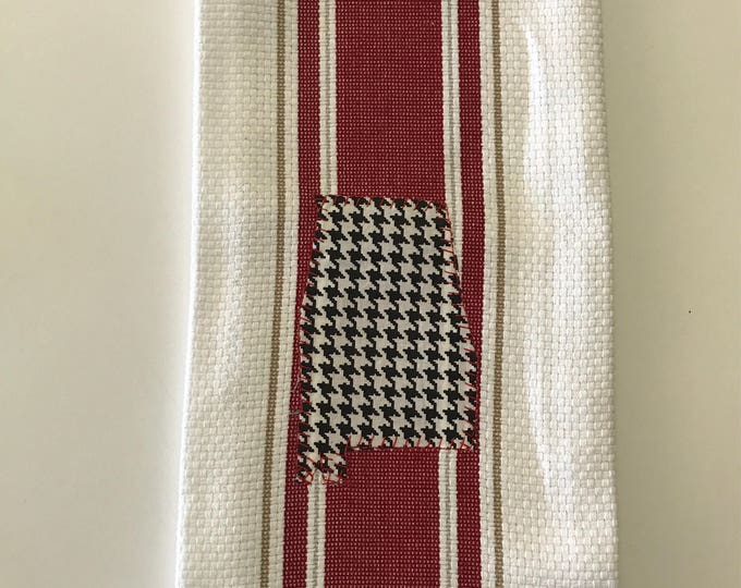 State of Alabama Tea Towel, houndstooth