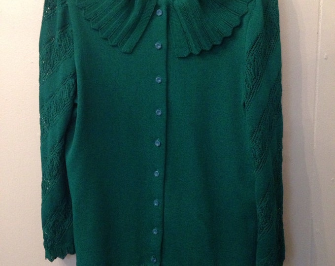 Vintage Castleberry Knit Suit Jade