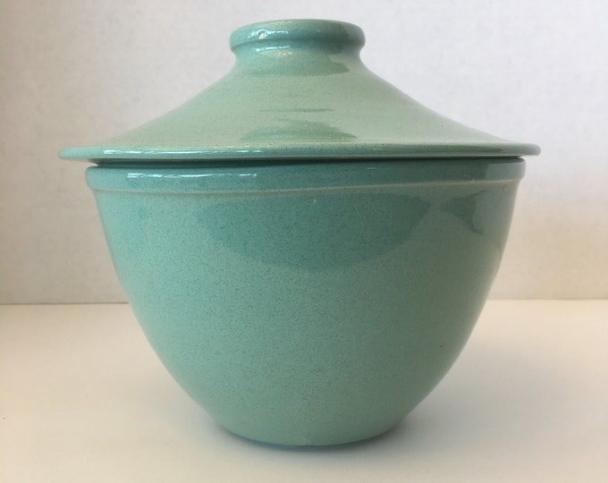 USA Pottery Bowl with Lid Cookie Jar