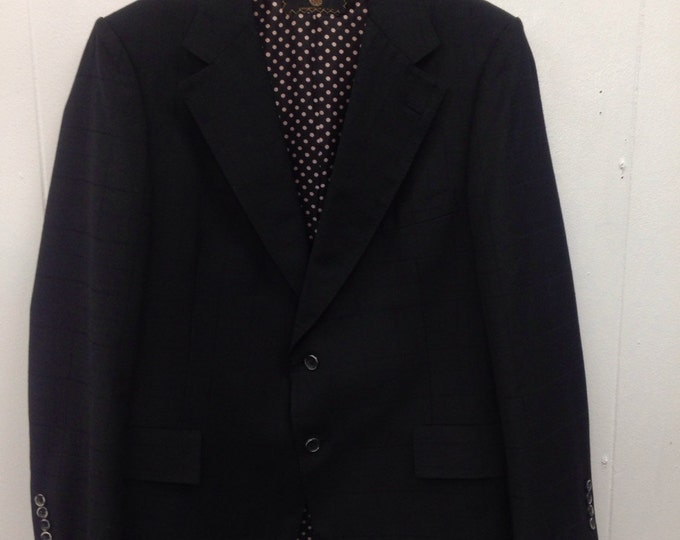 1970s Black Linen Jacket Society Brand Coulture Collection