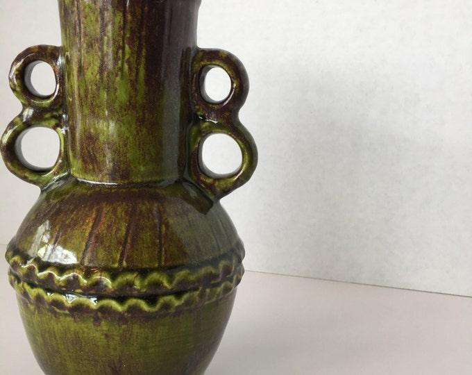 Green- Brown Vase