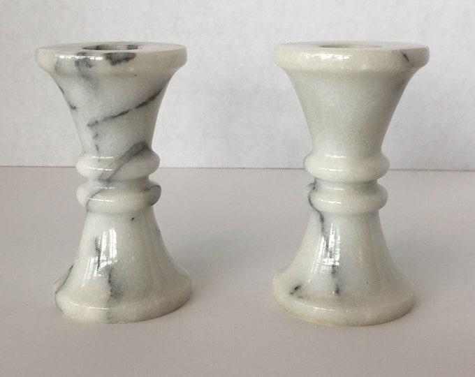 Marbel Candlestick holders