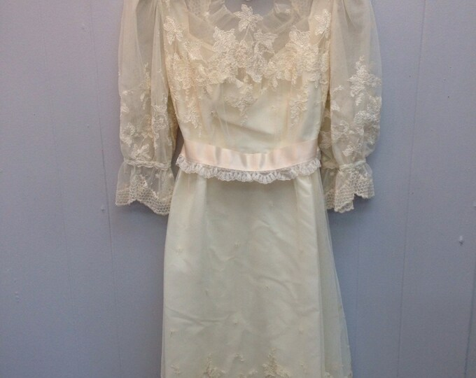 1980s House of Bianci Wedding Dress.