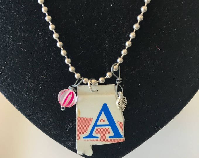 Upcyced Alabama License Plate Necklace