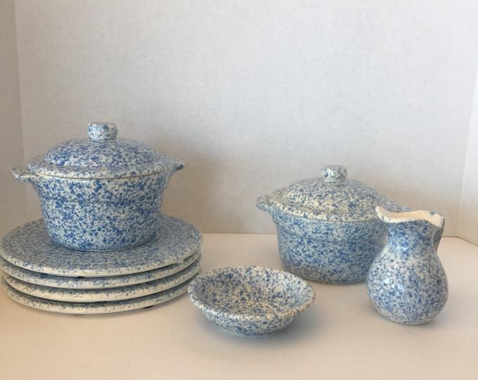 Treasure Craft Pottery Craft Blue Sponge