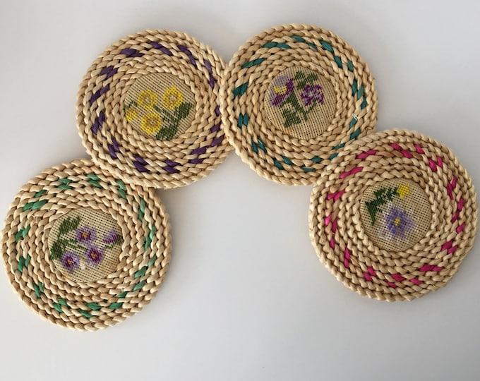 Vintage Needlework Hot Pads