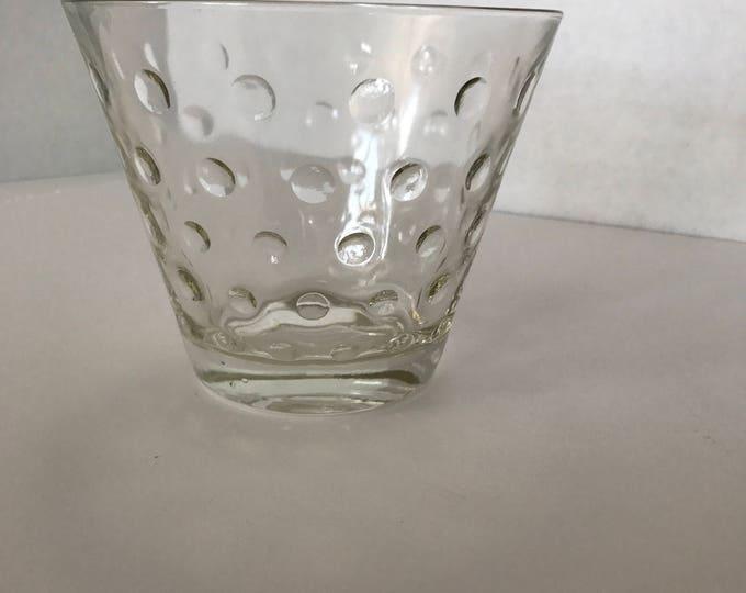 1950's Glass Ice Bucket