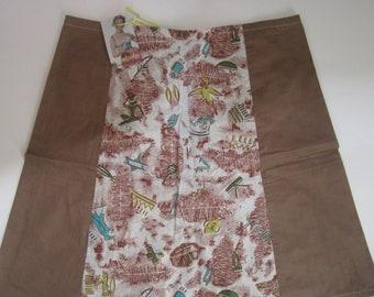 7fef57eb87 Size 8-10 Ethnic Print, Brown A-line 4 panel Ladies skirt