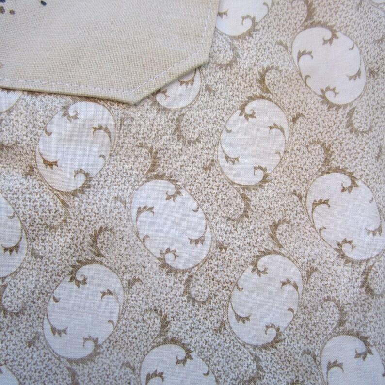 Size 12-14 Vintage Fabric Ladies Beige flare pants